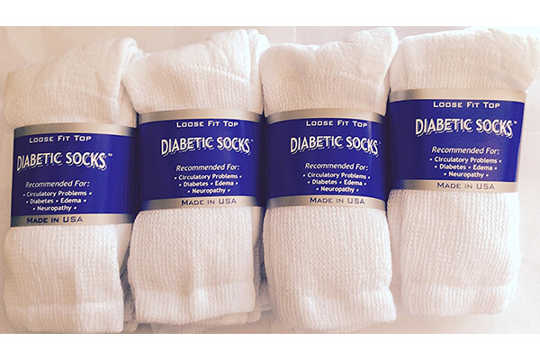 White Diabetic Socks