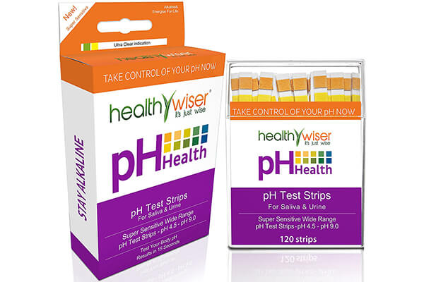 pH Test Strips 120ct + BONUS Alkaline Food chart