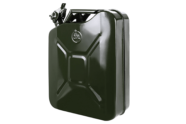 20L/5gallon Steel No-Spill Gas Tank Jerry Gas Can