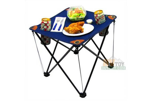 Folding Camping Table Folding Table with Drink Holders and Carry Bag