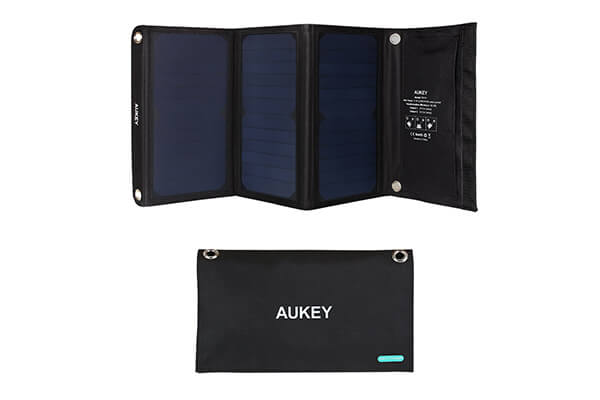 Aukey 21W Dual USB Solar Charger