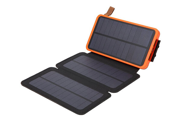 allimity Solar Portable Flip Solar Power Bank Charger