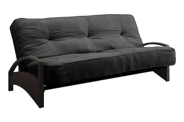 DHP 8-Inch Independently-Encased Coil Premium Futon Mattress, Full Size, Black