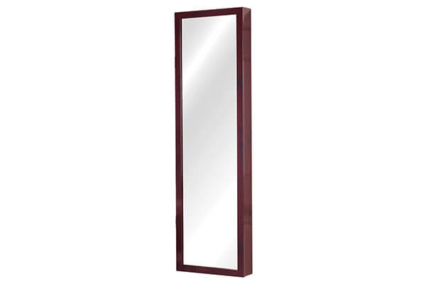 Plaza Astoria Over The Door/Wall-Mount Jewelry Armoire with Full Length Mirror