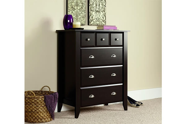 Sauder Shoal Creek 4-Drawer Chest, Jamocha Wood Finish
