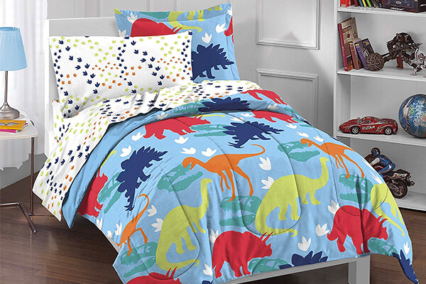 Dream Factory Dinosaur Prints Boys Comforter Set