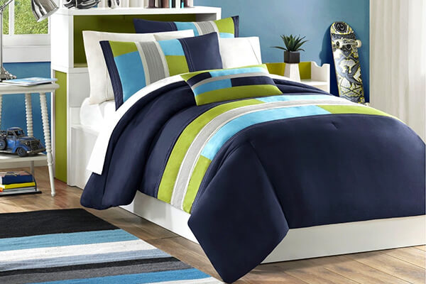 Light Green Boys Twin Comforter