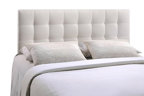 Modway Lily Queen Upholstered Vinyl Headboard in White