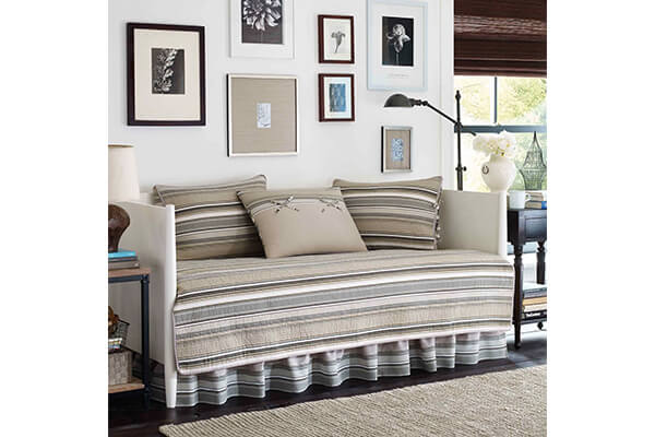 Stone Cottage Fresno Neutral 5-Piece Daybed Quilt Set, Ivory, Daybed
