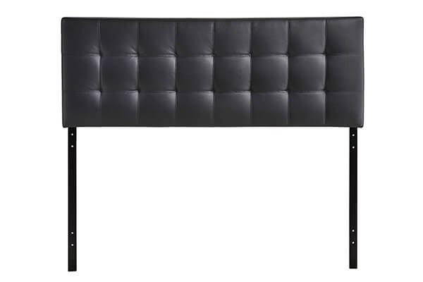 Modway Lily King Upholstered Vinyl Headboard in Black