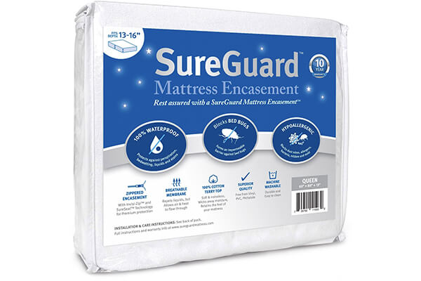 Queen (13-16 in. Deep) SureGuard Mattress Encasement