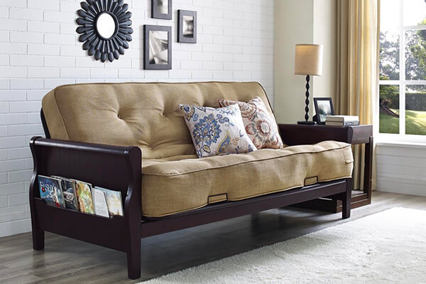 Medium image of better homes and gardens wood arm futon