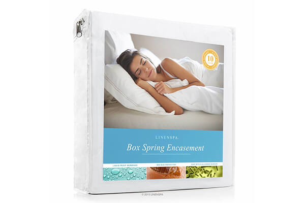 LINENSPA Waterproof Bed Bug Proof Box Spring Encasement Protector