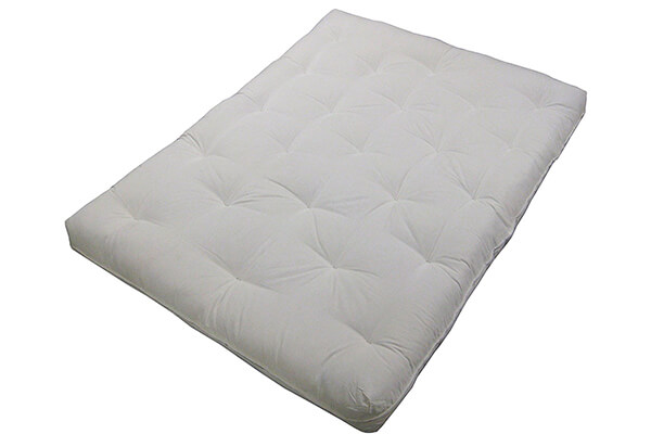 "Epic Furnishings Au Natural 8"" Loft All Cotton Filled Futon Mattress"