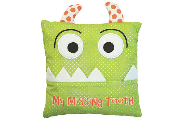 Little Boy's Green Tooth Fairy Pillow by Almas Designs