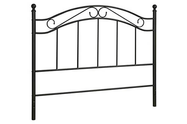 Bed Headboard- Fits Full or Queen Bed Frames by Mainstays (Black)