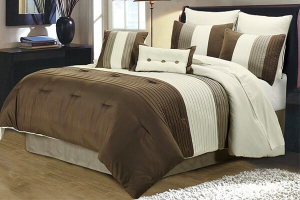 Chezmoi Collection Luxury Stripe Duvet Cover Set