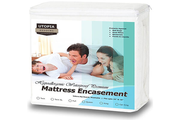 Premium Zippered Waterproof Mattress Encasement