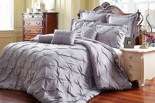 Unique Home 8 Piece Reversible Pinch Pleat Comforter Set