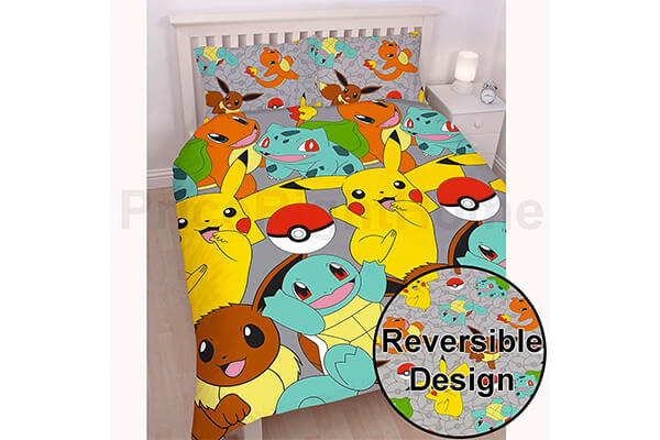 Pokemon Catch UK Double Full Duvet Cover Set