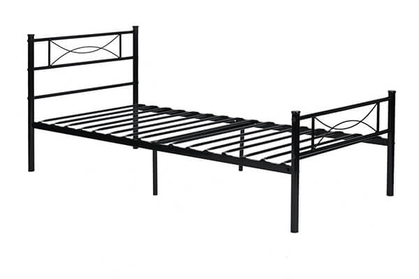 Yanni Premium Modern Easy Set-Up Steel Platform Bed Frame (Black)