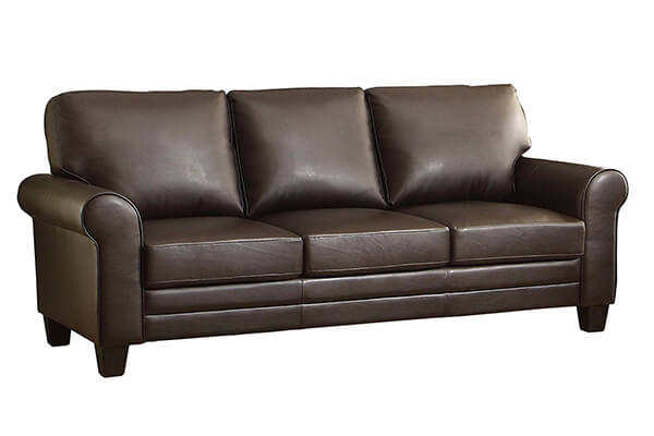 Homelegance 8579DB 3 Upholstered Sofa, Dark Brown Bonded Leather Match