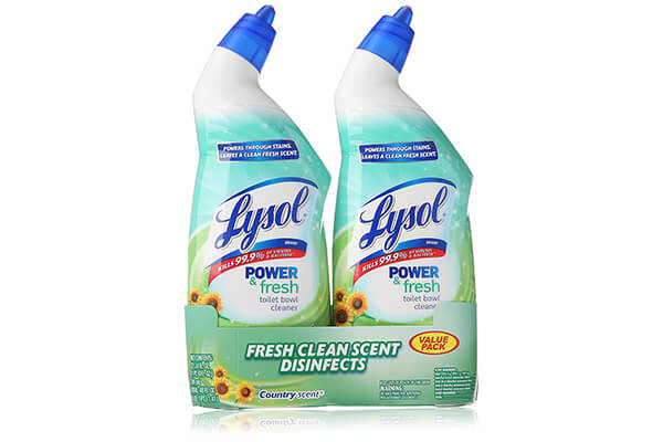 Lysol Clean & Fresh Toilet Bowl Cleaner, Cling Gel, Country Scent