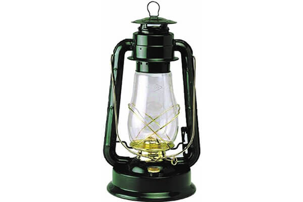 V&O 310-80041 Supreme Brass Trim Oil Lantern, Green