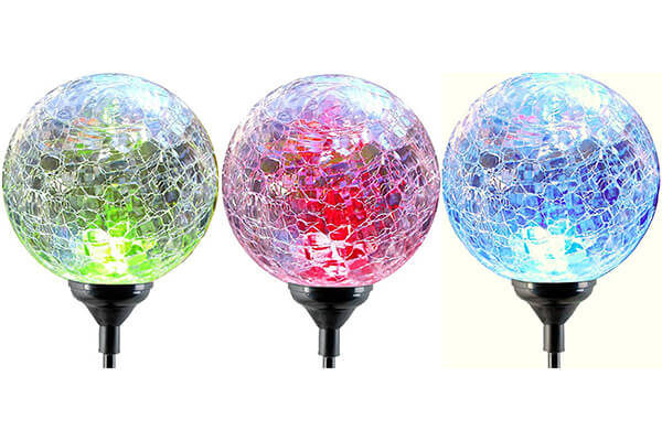 Moonrays 91251 Color Changing Solar LED Glass Ball Light Fixtures