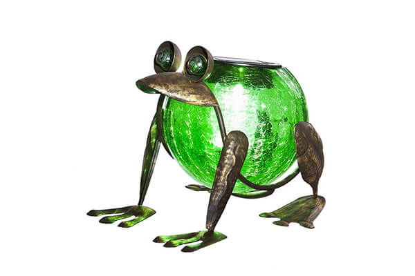 Evergreen Enterprises EG2SP3912 Quirky Solar Frog Lantern