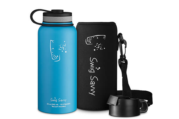 Swig Savvy'Stainless Steel Vacuum Insulated Water Bottle