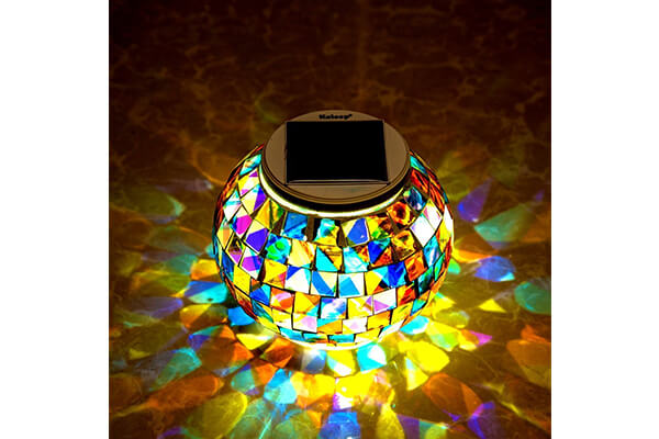 Kaleep Bright Solar Lawn Light Solar Lawn Lamp Mosaic Glass Ball Garden Lights
