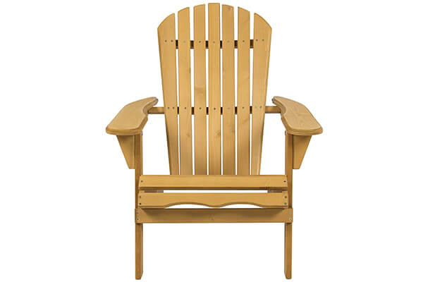 Best Choice Products SKY2253 Outdoor Patio Lawn Deck Foldable Adirondack Wood Chair