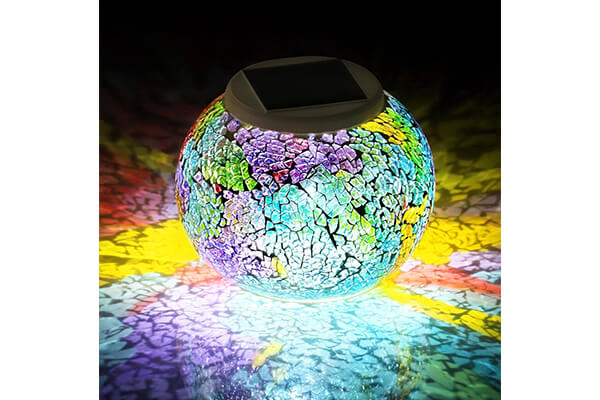 Pandawill Color Changing Solar Powered Glass Ball Led Garden Lights