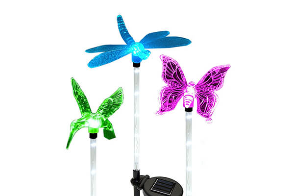 Solarmks 2nd Generation Solar Powered Outdoor Multicolor Changing LED Stake Light