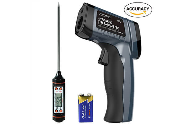 Infrared Thermometer, SURPEER IR5D Digital Temperature Gun