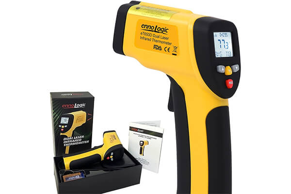 4. EnnoLogic temperature dual laser non-contact infrared thermometer.