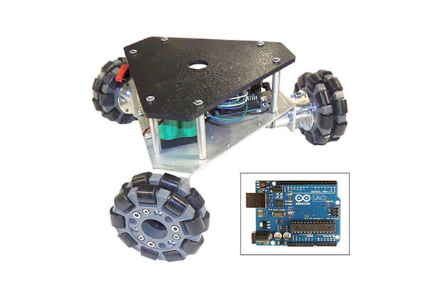 SuperDroid Robots Programmable Triangular Omni Wheel Vectoring Robot - IG32 DM