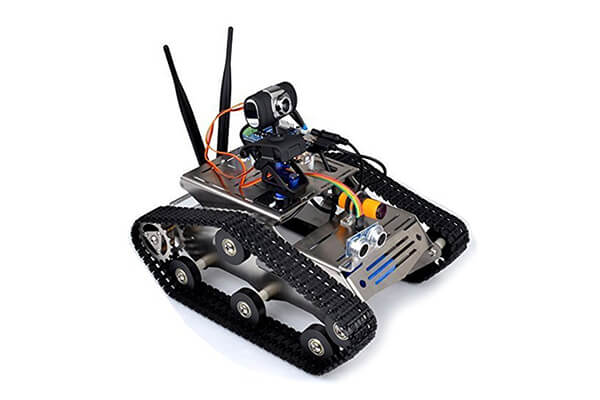 UniHobby H80 TH Full Metal Wireless Wifi Video Robot Tanks FPV Car Kit for Arduino Project Educational Robot Kit for Kids with iOS/Android APP and PC Software
