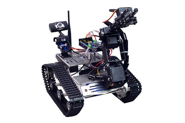 Xiao R Geek TH Robot Metal Wireless Wifi Video Robot Tanks FPV Car Kit for Arduino Project Educational Robot Kit for Kids with iOS/Android APP and PC Software