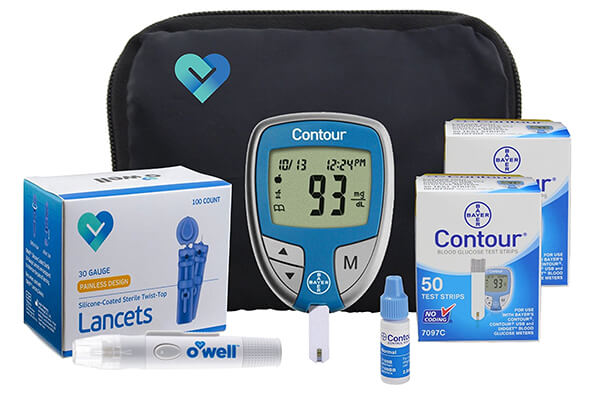 Bayer Contour Diabetes Blood Glucose Testing Kit