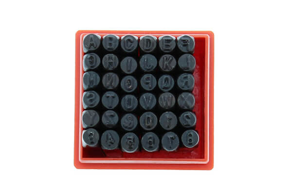 "ABN 36 Piece 1/8"" Inch Steel Stamp Set"