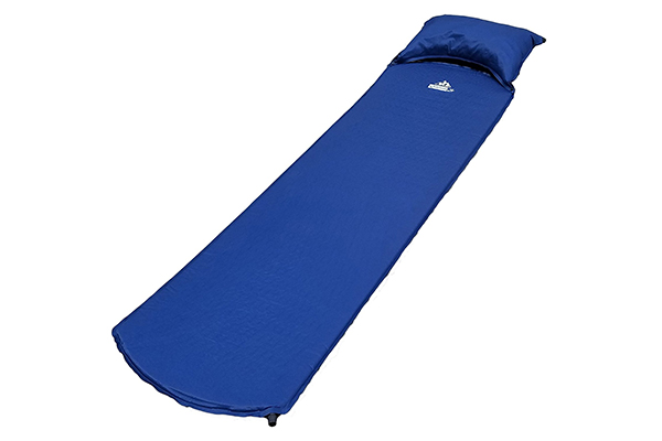OutdoorsmanLab Lightweight Self-Inflating Sleeping Pad with Self-Inflating Pillow For Camping, Backpacking