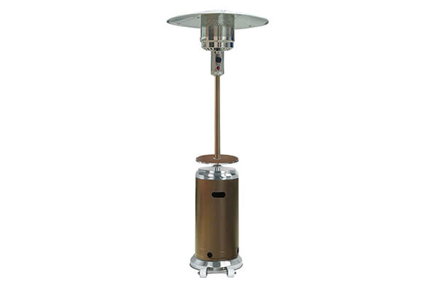 AZ Patio Heaters HLDS01-SSHGT Tall Stainless Steel Patio Heater with Table, 87-Inch, Hammered Bronze