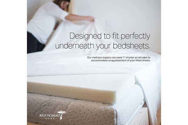 Red Nomad Memory Foam Mattress Pad Bed Topper