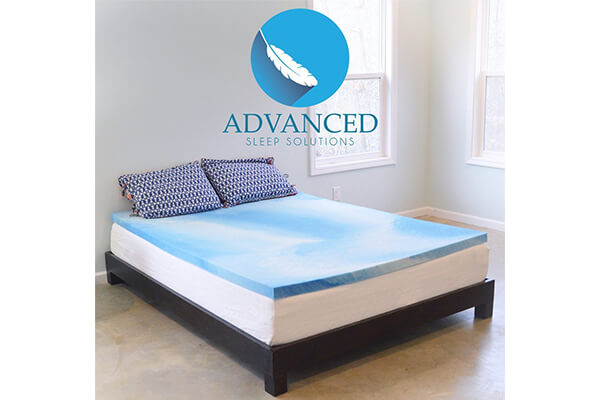 Advanced Sleep Solutions Gel Memory Topper