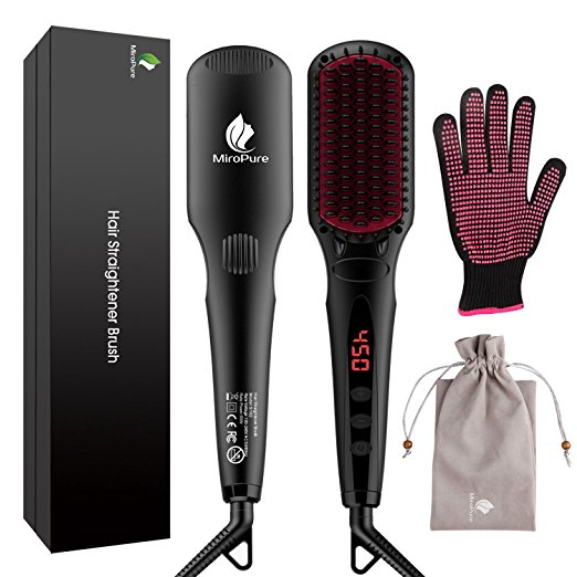 10. MicroPure 2-in-1 Ionic Hair Straightener Brush