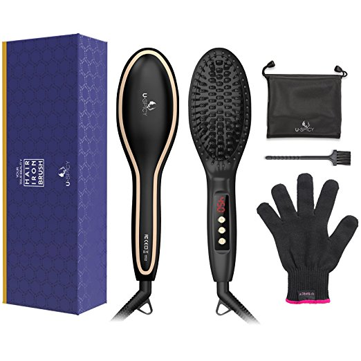 2. USpicy Hair Straightening Brush