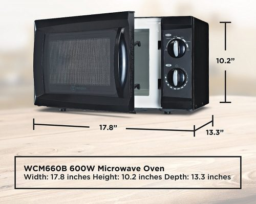 7. Westinghouse WCM660W Counter Top Rotary Microwave Oven