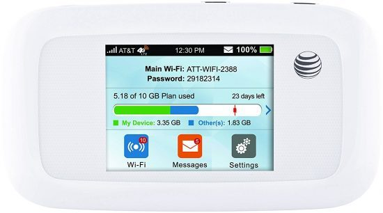 AT&T Portable Wifi Hotspots